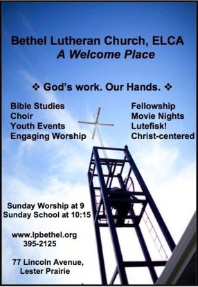 Bethel Lutheran Church in Lester Prairie,MN 55354