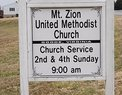 Mount Zion United Methodist Church in Goode,VA 24556