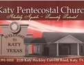 Katy Pentecostal Church in Katy,TX 77493-1500