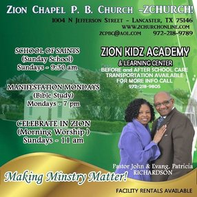 "Zion Chapel  - ""Z Church"" in Lancaster,TX 75146-1708"