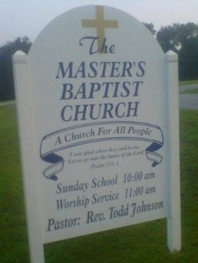 The Master's Baptist Church in Whitmire,SC 29178-9043